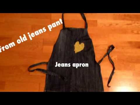 An Apron with old jeans