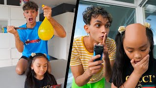 PRANKING OUR LITTLE SISTER FOR 24 HOURS!