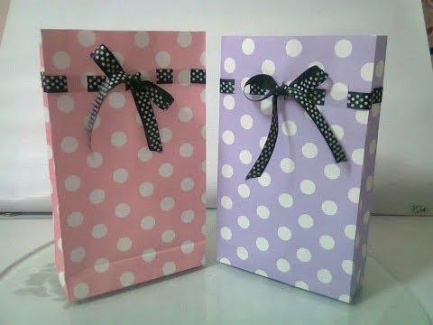 DIY : #5 Cute Paper Bags For Gift ♥