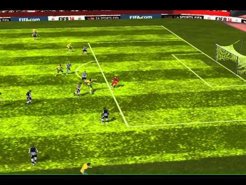 FIFA 14 The weirdest goal EVER!