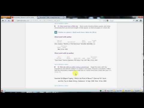 MLA citation how-to using Diana Hacker's website
