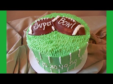 Super Bowl Football Cake Made Simple with Jill