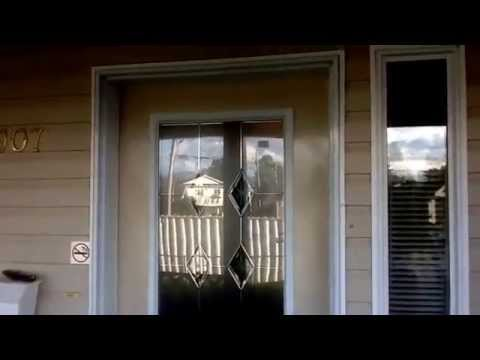 Adding a window to exterior entrance door.