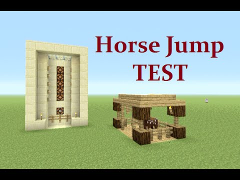 Minecraft Tutorail : Automatic Horse Jump Test