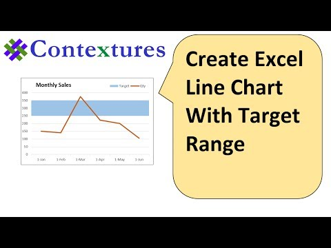 Create an Excel Line Chart With Target Range