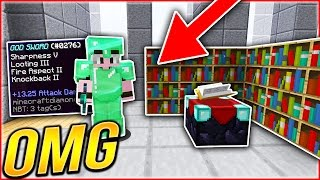 THE BEST ENCHANT in SKYWARS HISTORY!... | Minecraft SKYWARS CHALLENGE