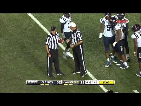 Vanderbilt Player With Possible Concussion Returns to Game After One Play