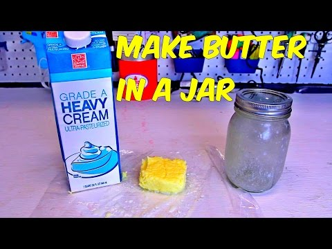 How to Make Butter in a Jar
