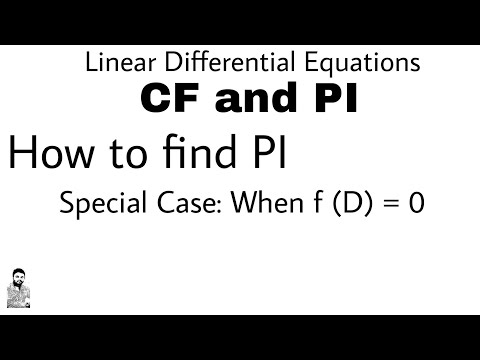 9. HOW TO FIND PI | SPECIAL CASE | DIFFERENTIAL EQUATIONS OF HIGHER ORDER