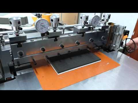 Sponge Kiss Cutter Machine For Cutting The Sheet Sponge To Strips