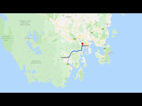 Tasmania, Driving from  Franklin to Hobart