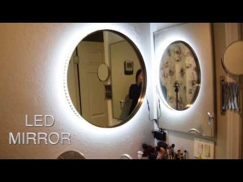 DIY Vanity Mirror w LED Lights   cheap and easy ✧ TesiaBeau