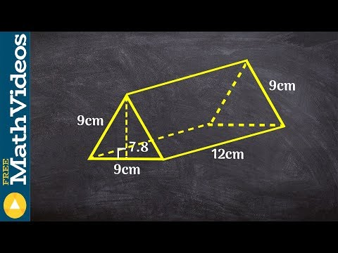 Geometry - How to find the surface area of a triangular prism