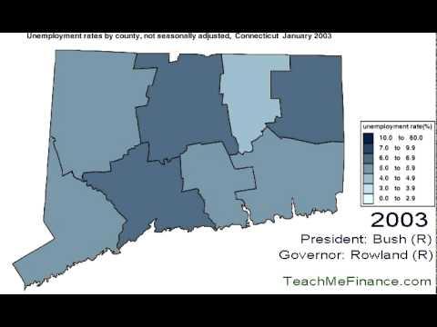 Connecticut Unemployment Map