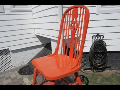 REFINISHING WOOD CHAIRS THE EASY WAY