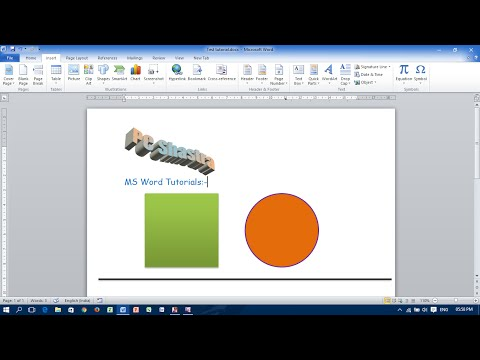 Draw & Resize Square, Round Circle and Straight Line in MS Word