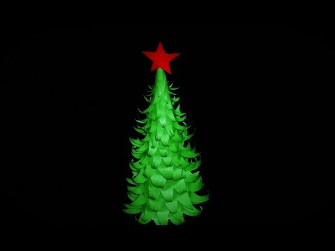 How to Make a 3D ORIGAMI CHRISTMAS TREE From Paper |PAPER CHRISTMAS TREE DECORATION TUTORIALS |