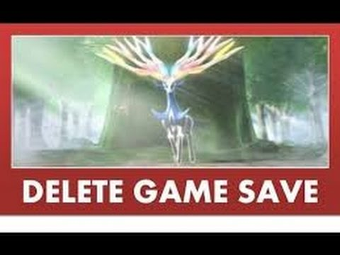 how to delete your pokemon x and y save file | HD