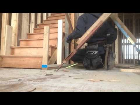 Framing a raked wall - Time-lapse