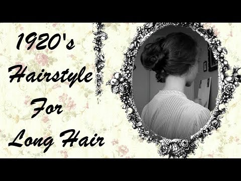1920s Hairstyle For Long Hair (1924 Coiffure)