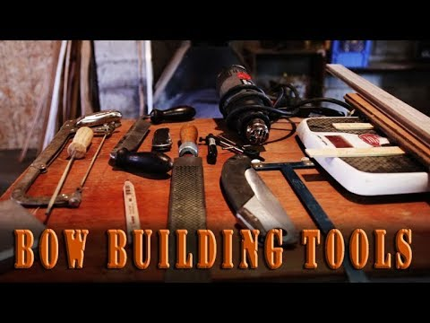 Bow building Tools for making a primitive bow, self bow, recurve, or longbow