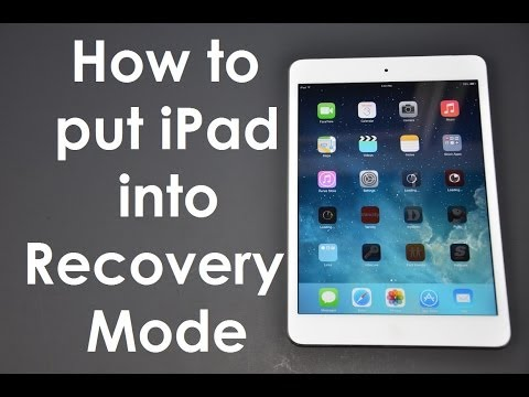 How to put an iPad into recovery mode iOS8 or iOS7