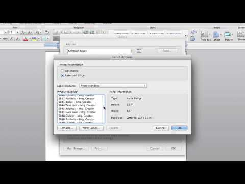 How to Make Name Tags in Microsoft Word : Microsoft Office Tips