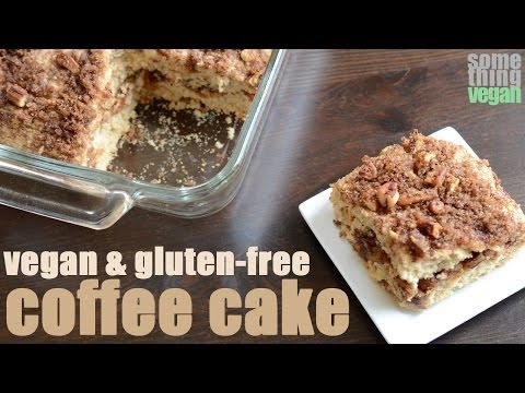 cinnamon streusel coffee cake (vegan and gluten-free) Something Vegan