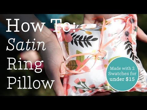 How to: The Perfect Satin Ring Pillow   Spoonflower Tutorials