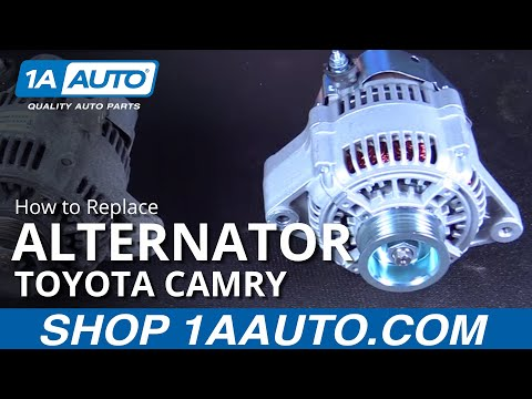 How to Replace Install New Alternator 97-01 Toyota Camry