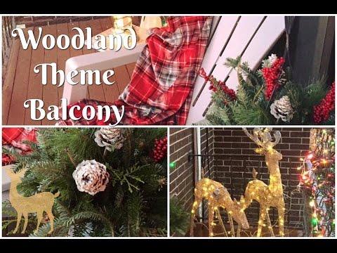 Woodland Inspired Christmas Balcony Tour | 2016
