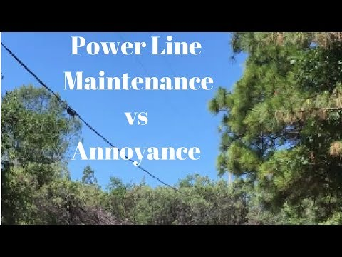 Power Line Maintenance or Annoyance ?