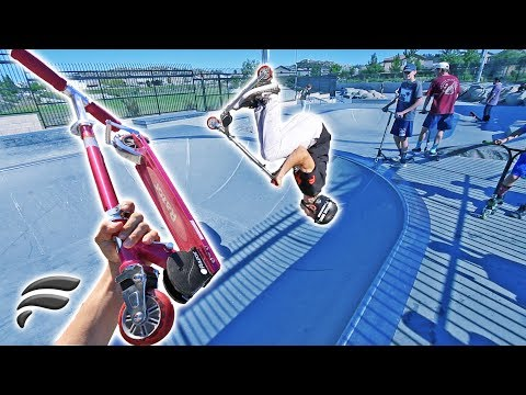 PROFESSIONALS RIDE RAZOR SCOOTERS AT SKATEPARK!