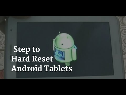 Android Tablet Hard Reset Methods - PlayTunez World Of Videos