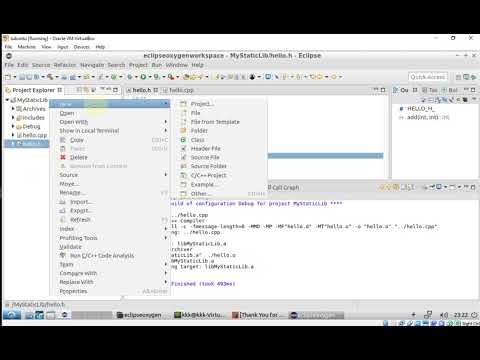 Creating, using, and debugging C++ static library in Eclipse CDT (in Linux)