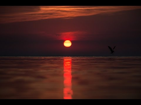 Calming Baltic Sea sunset with slightly wavy sea (Canon 70D test)