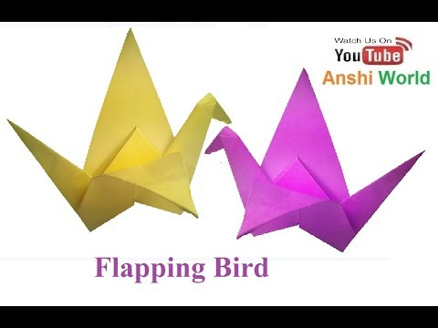 How To Make an Origami Flapping Bird that Flaps its wings EASY!
