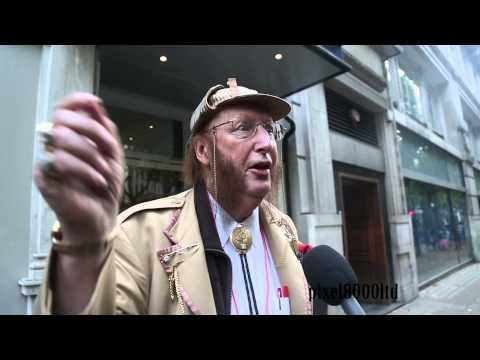 John McCririck outside employment tribunal London Age Discrimination case