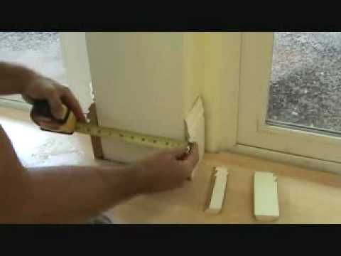 Installing wood baseboard to a concrete column