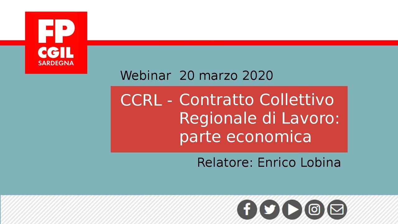 CCRL - Contratto Collettivo Regionale di Lavoro: parte economica