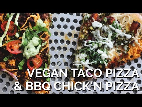 Vegan Taco Pizza and BBQ Chicken Pizza | Two Market Girls