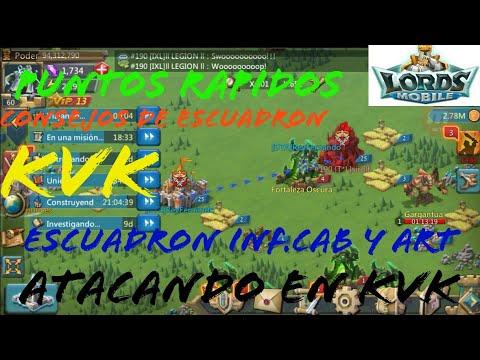 ATACANDO EN KVK-Puntos Rapidos-LORDS MOBILE/MAS CONSEJOS DE ESCUADRONES INF,CAB,ART