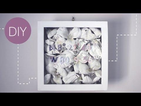 ✂ DIY Floral Shadowbox
