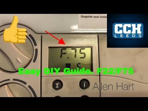 How to fix your boiler Vaillant Glow Worm F75 / F22 Fault low water pressure