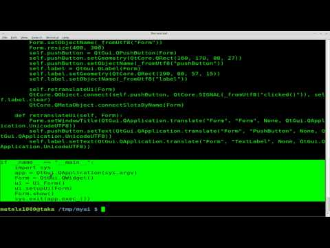Linking Buttons to Functions in Python and Qt4-designer - Linux