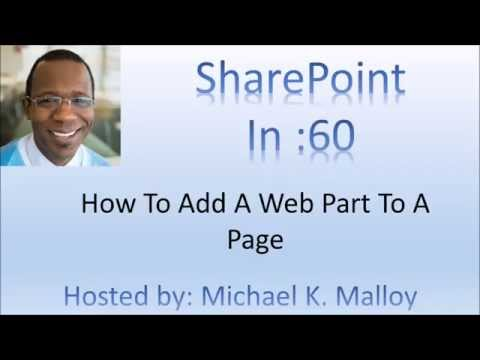 How To Add A Web Part To A SharePoint Page