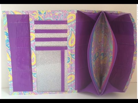 Tutorial: Duct Tape Mini Accordion Women's Wallet