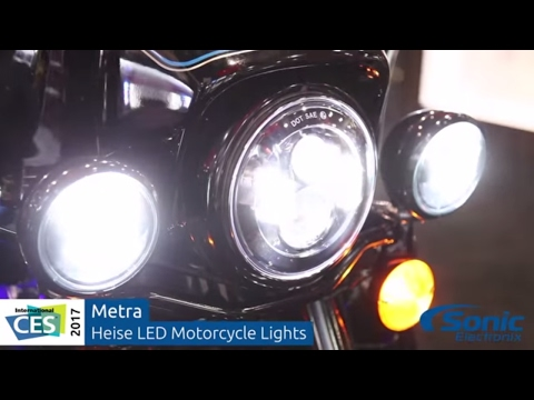 Metra Heise LED Motorcycle Lights   CES 2017