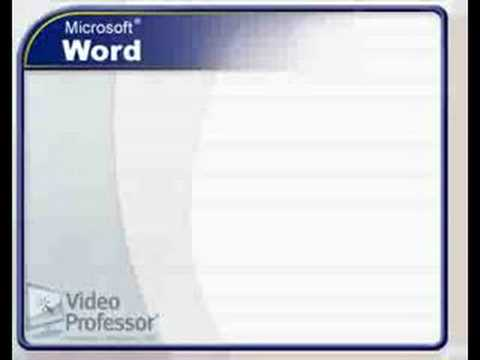 Video Professor: Mail Merge Tutorial for Microsoft® Word® 20