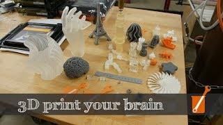 3D print your brain, timelapse, high-res microfluidics, custom colors...